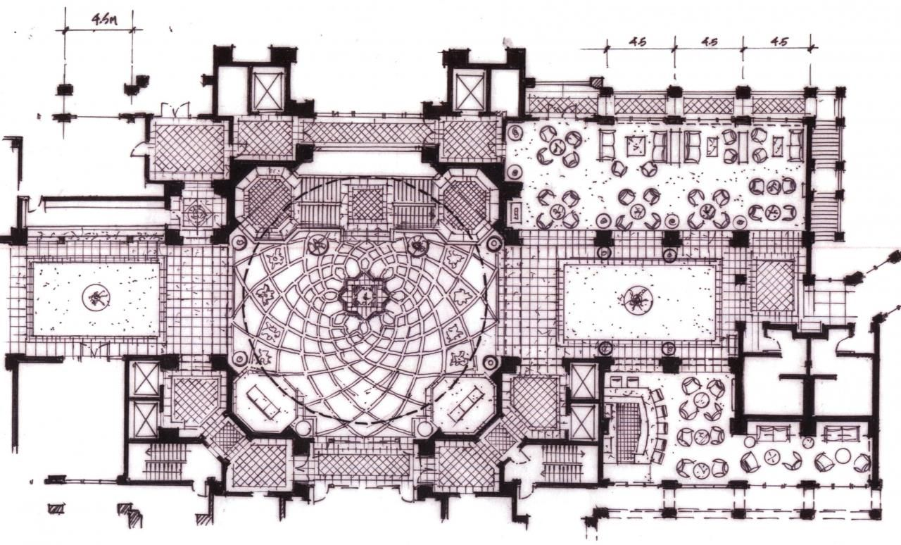 Hotels lobby floor plan google bobo game for Interior design plan drawings
