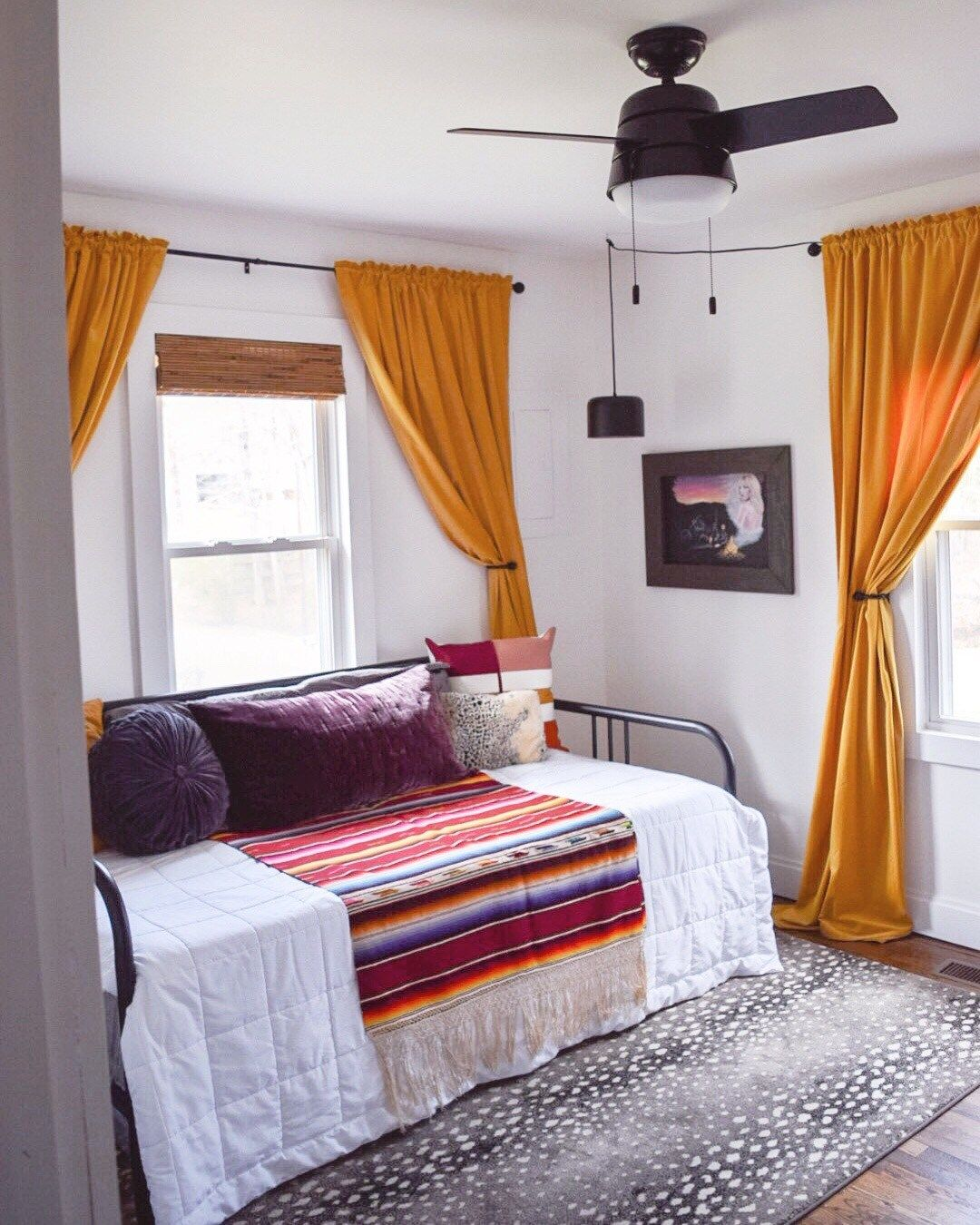 Bright And Bold Guest Bedroom: Budget, DIY, Colorful Guest Room Makeover