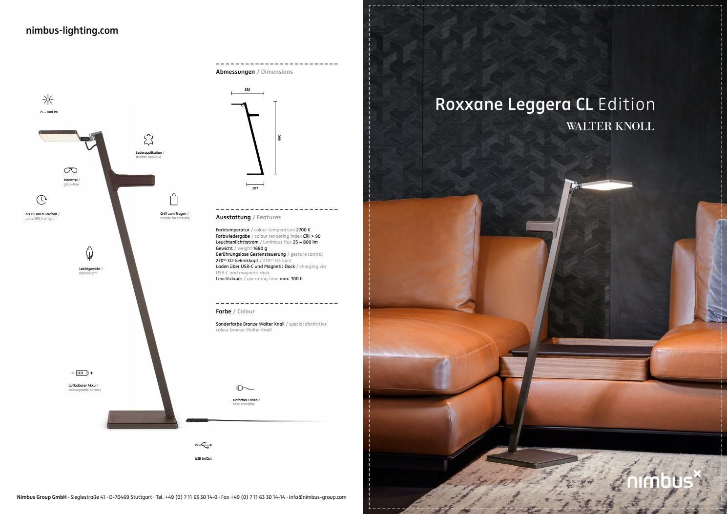 Roxxane Leggera Cl Edition Walter Knoll Walter Knoll Nimbus