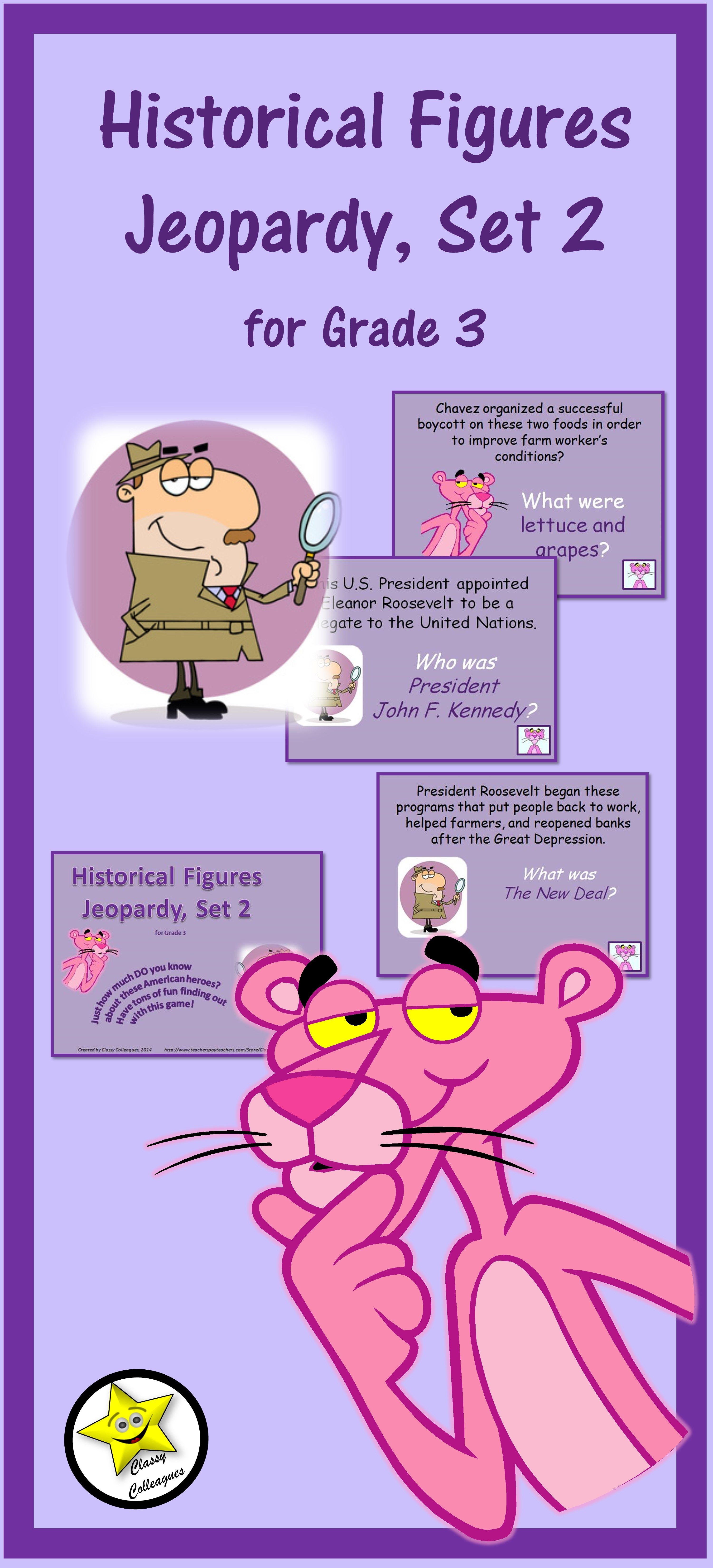 Historical Figures Jeopardy Style Set 2 Grade 3