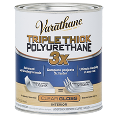 Varathane Triple Thick Polyurethane Is 3x Thicker Than A Traditional Polyurethane It Is An Advanced Self Leveling Fo With Images Varathane Varathane Wood Stain Rustoleum