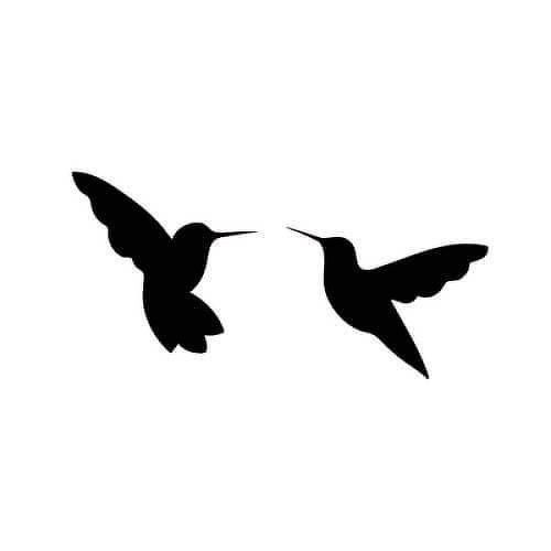 Semi Temporary 8 18 Days Hummingbird Tattoo Hummingbird Tattoo Black Hummingbird Tattoo Black Bird Tattoo