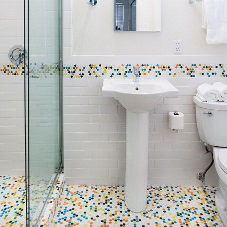 Pop Of Color With ModDotz Tile In A Kids Bathroom | Modwalls | Colorful  Modern Tile