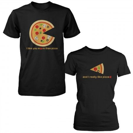 Schön I Like You More Than Pizza Matching Couple T Shirts Valentines Day Gift  Foodies