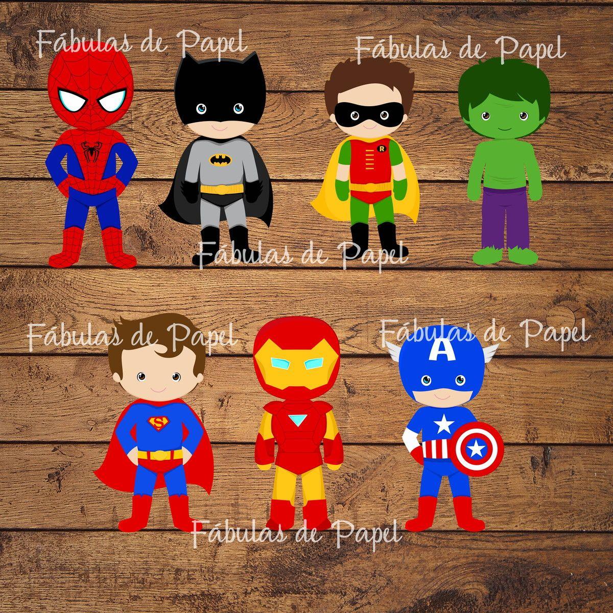 Apliques Super Heróis | Fábulas de Papel | Elo7