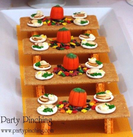 Thanksgivng Dessert Table For Kids