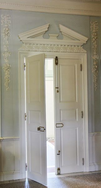 Gorgeous door pediment and wall detailing at The Mount Edith Wharton\u0027s former home & Gorgeous door pediment and wall detailing at The Mount Edith ...
