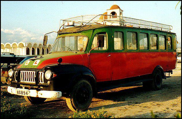 Cyprus Village Bus Cyprus Greece Classic Cars Vintage Bus