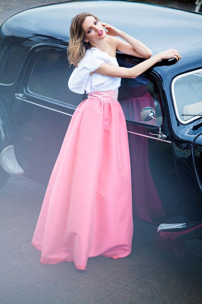 Falda Larga Alysa | Faldas largas fiesta, Faldas largas y Falda