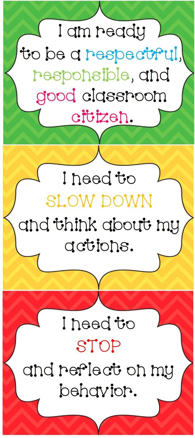 Classroom Ideas Charts : Chevron design behavior system clip charts