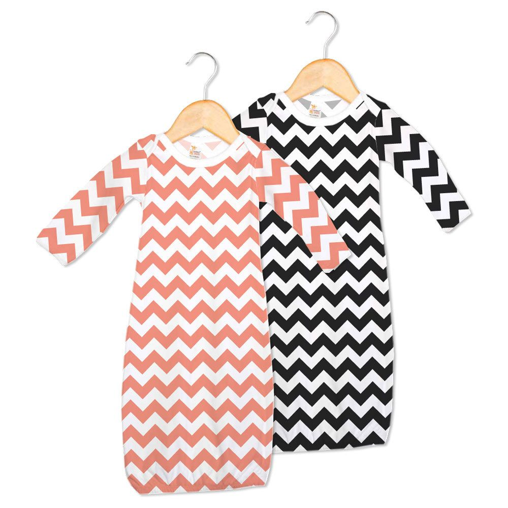 Wholesale Baby Gowns - Chevron Print - Cotton | Baby Holmberg ...