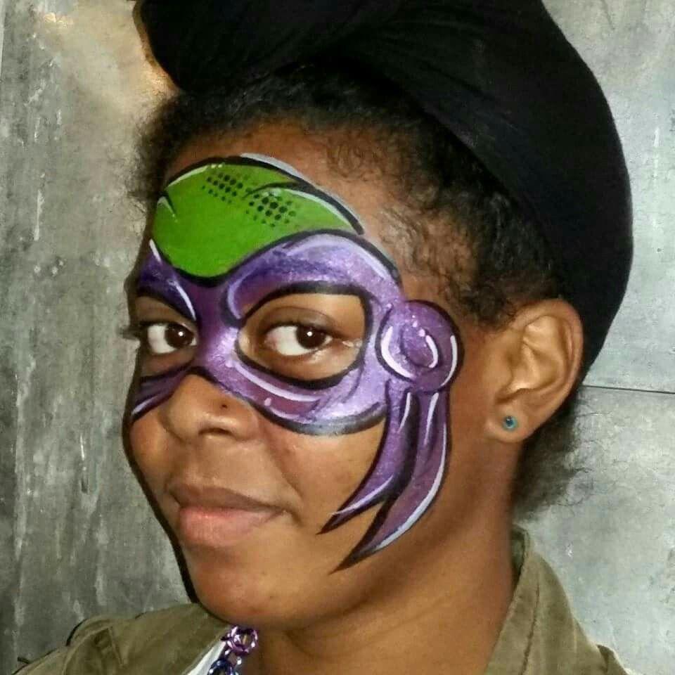 Teenage Mutant Ninja Turtle 🐢 | Face painting designs ...