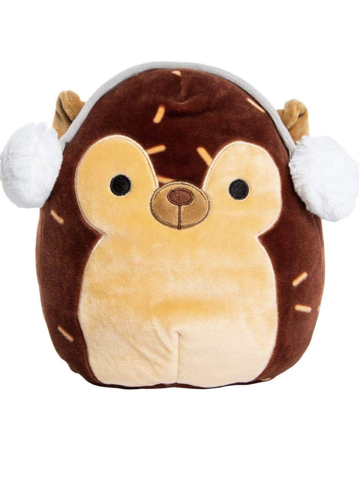 Squishmallow 8 Inch Hans The Hedgehog With Earmuffs Girls Pillows Pillow Pals Hedgehog [ 1687 x 1242 Pixel ]