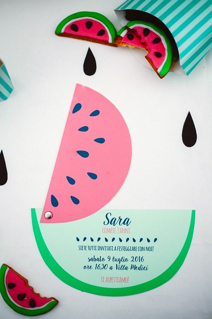 movable watermelon birthday invitation from this watermelon, Birthday invitations