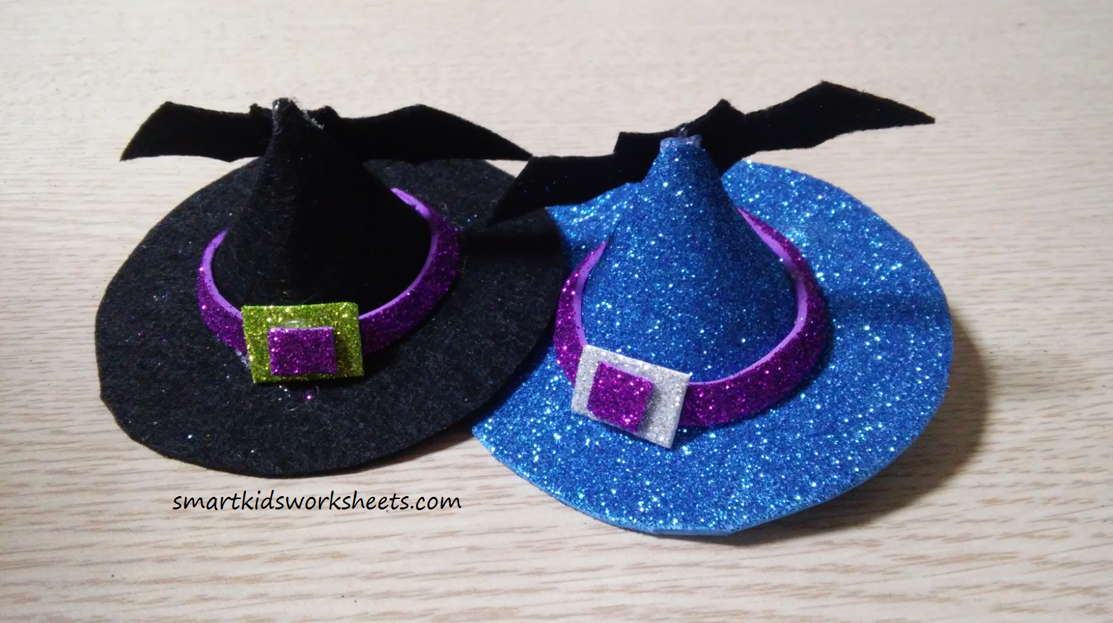 Halloween Craft Witch S Hat Hair Clips With Images