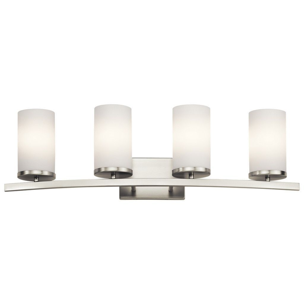 Kichler lighting crosby collection light brushed nickel bath