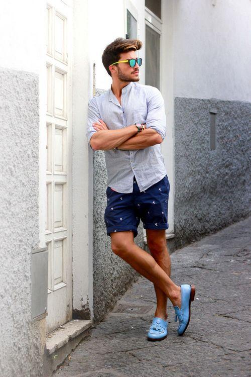 759bdd0f2 Summer Shorts Sapato Social Masculino