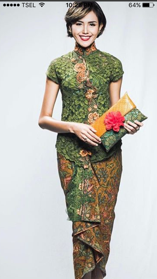 Batik ijo Batik Fashion Pinterest Kebaya Brokat and