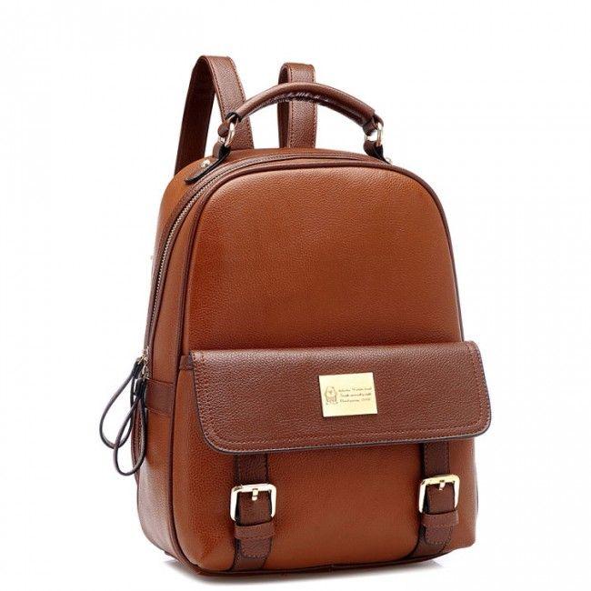 b738b6dbc9c5 Retro Elegant Girl Large School College PU Backpack only  39.99