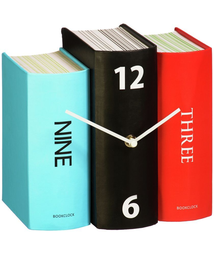 Buy Premier Housewares Blue, Red and Black Book Table Clock at Argos ...