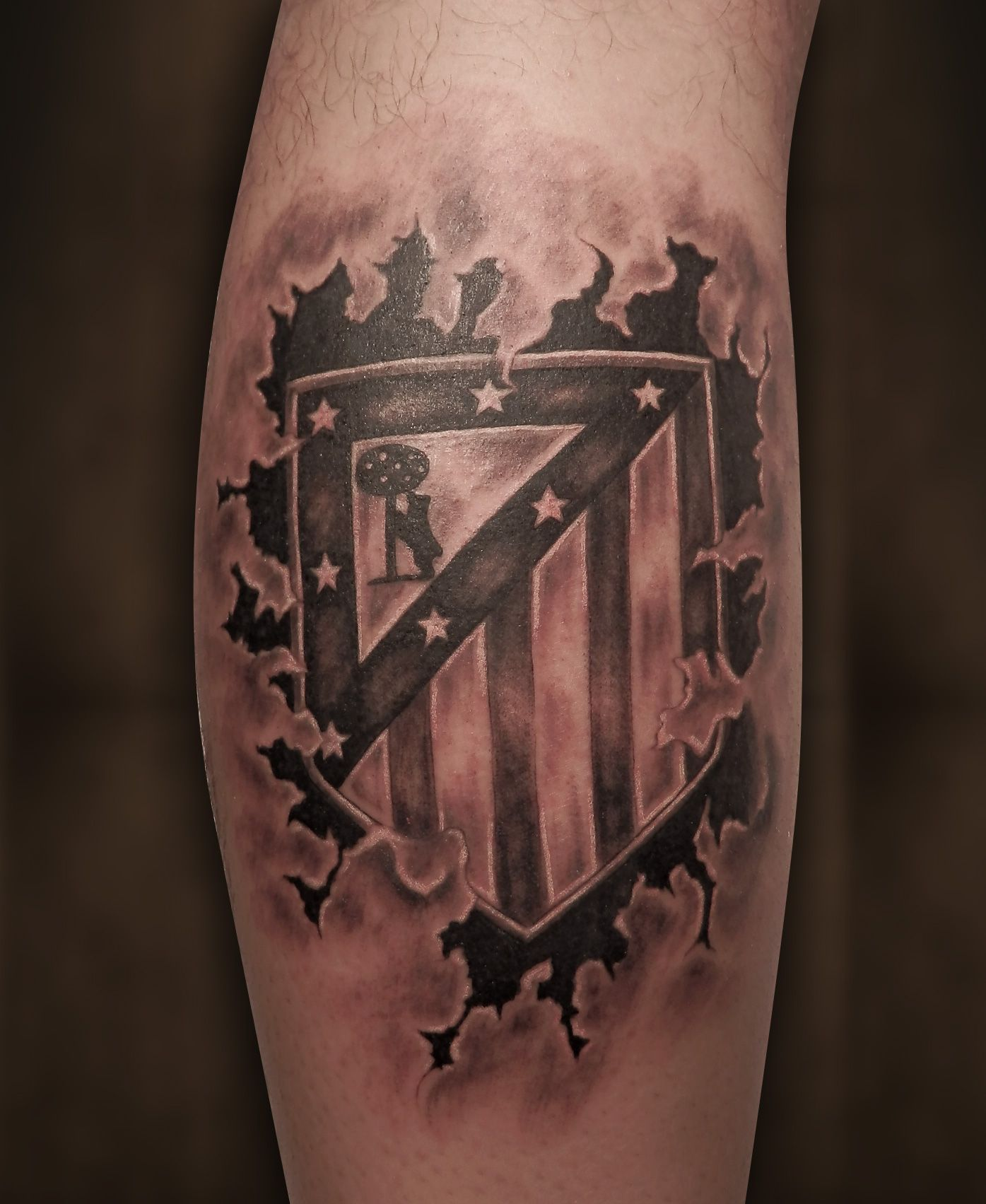 Atletico De Madrid Tattoo Negro Gris Madrid Tattoo Atletico