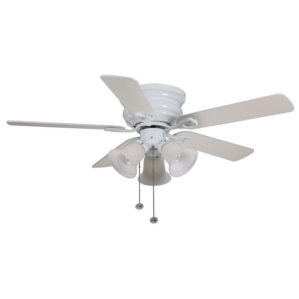 Hampton Bay Clarkston 44 In White Ceiling Fan Cf544h Peh White Ceiling Fan Ceiling Fan
