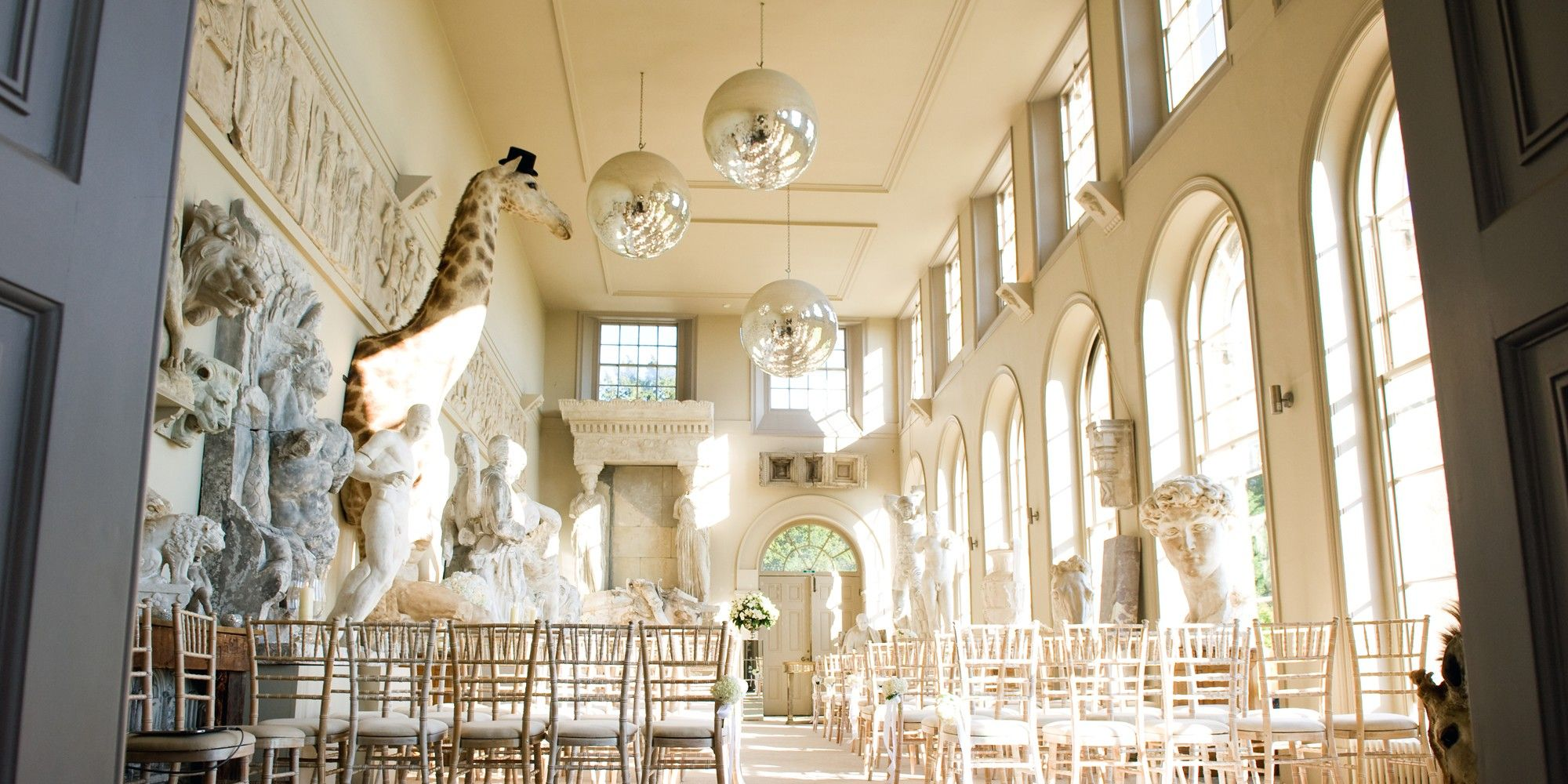 Aynhoe Park Cotswolds Private House Unusual Wedding