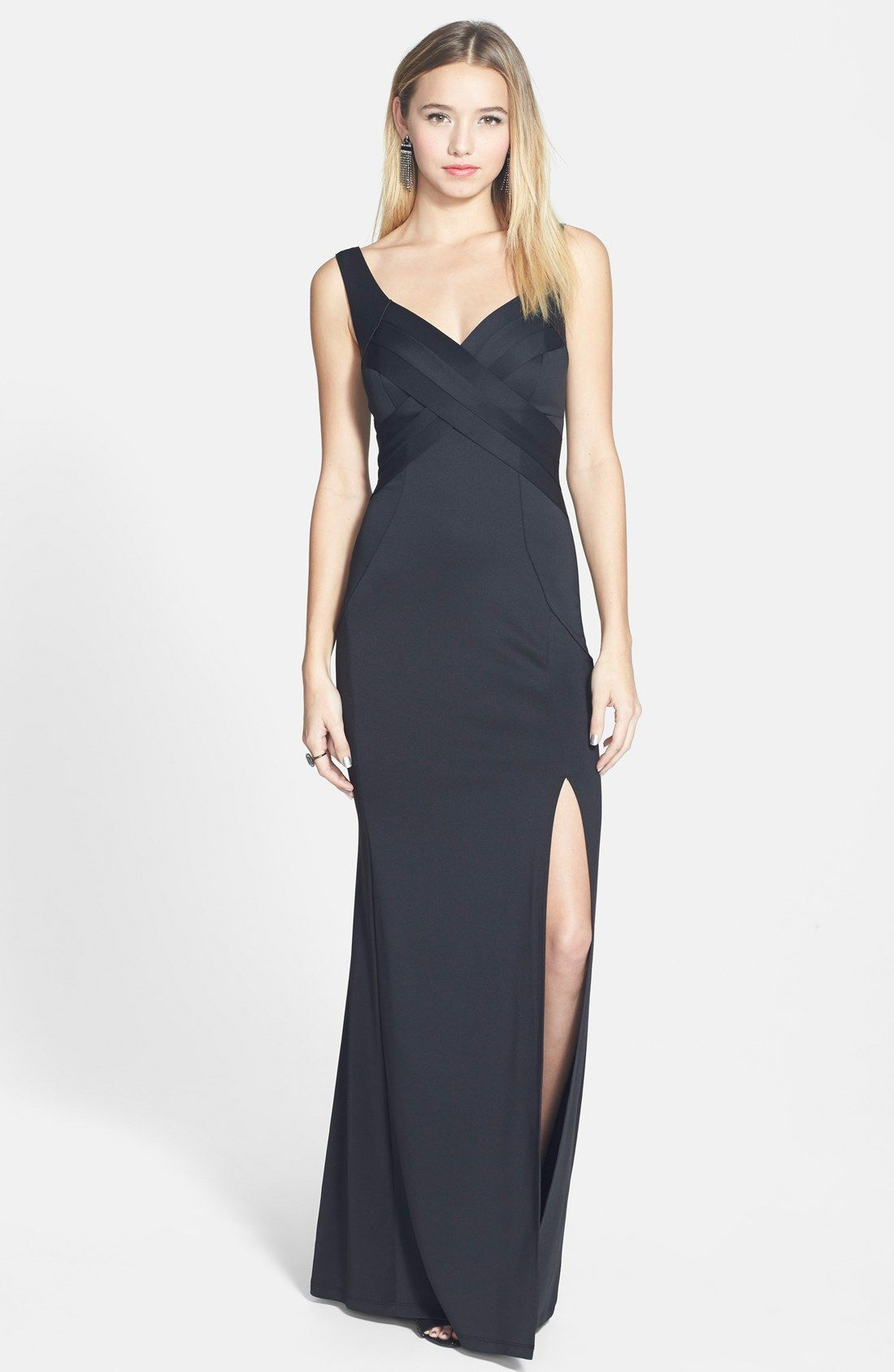 Love, Nickie Lew Crisscross Bodice Gown | Nordstrom | Formal ...