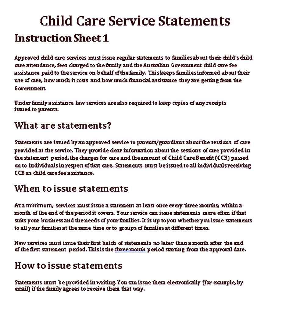 Child Care Receipt Templates Sample Receipt Template Childcare Childcare Costs