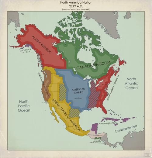 North America ADby FennOmaniCMore Future Maps Maps - Future map of north america