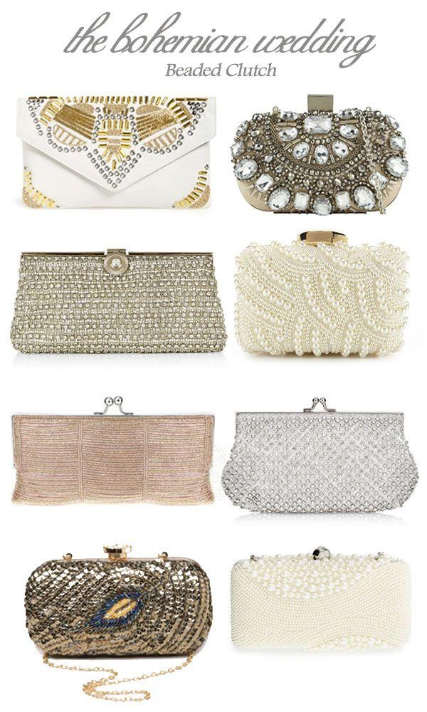 1a477097e4d10 Beautiful Beaded Clutches for a Boho Bride   accessories   Boho ...