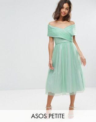 Asos Petite Wedding Tulle Midi Dress Midi Bridesmaid Dress Petite Midi Dress Womens Midi Dresses