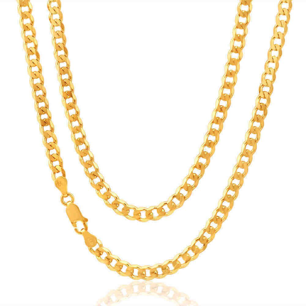 9ct YELLOW GOLD CHAIN END 4mm JEWELLERY MAKING
