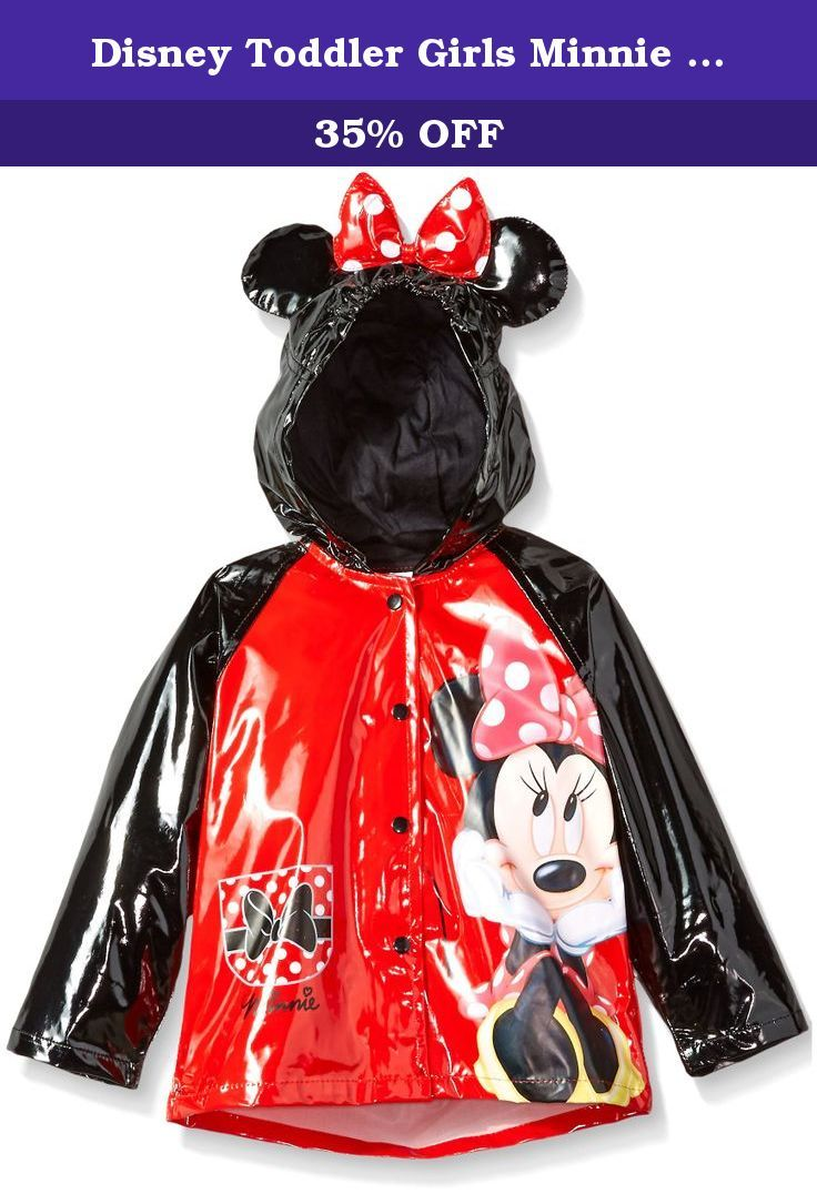 e01c24a64 Disney Toddler Girls Minnie Mouse Hooded Rain slicker with Dotted ...