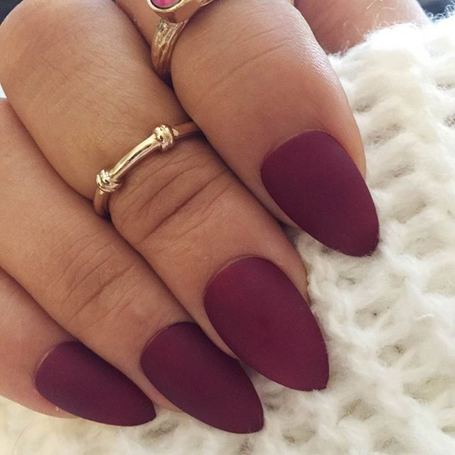 So pumped about the matte wine #nailswag | Nails | Nails ...