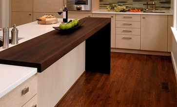 Wenge Wood Countertop by Grothouse - contemporary - kitchen countertops - san diego - The Grothouse Lumber Company