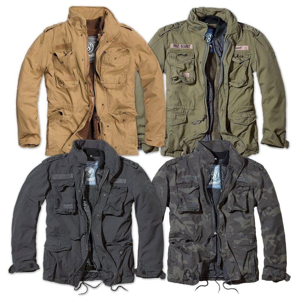 e74b80f7906 BRANDIT M65 GIANT MENS MILITARY PARKA US ARMY JACKET WINTER WARM ZIP OUT  LINER