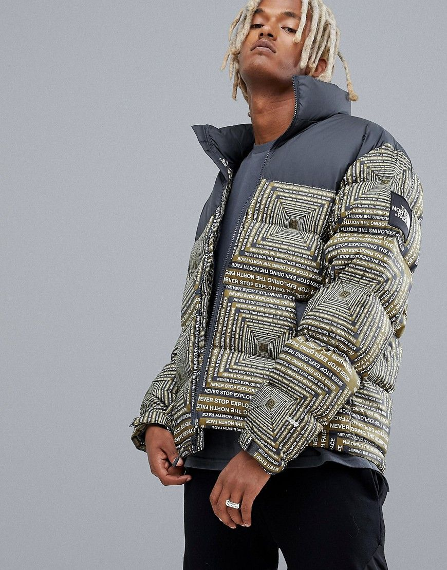 THE NORTH FACE 1992 NUPTSE JACKET IN LCD PRINT - BLACK.  thenorthface  cloth 18854a172