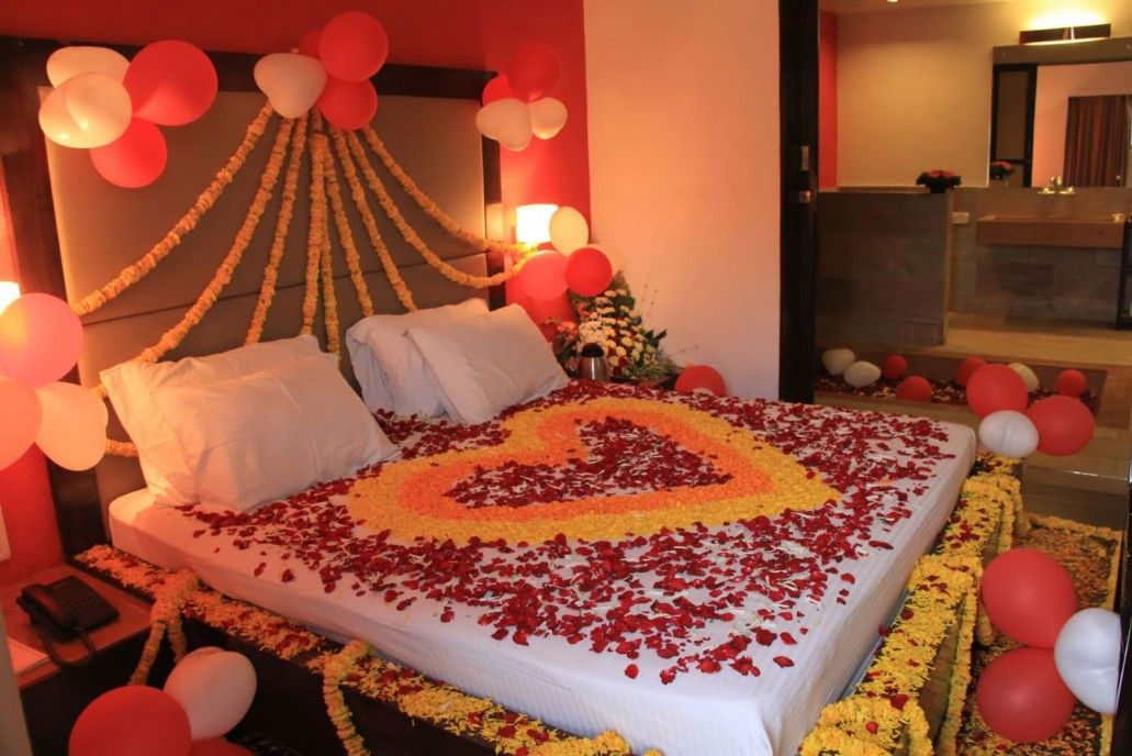 15 Diy Bedroom Decoration For A Romantic Valentine S Day Matchness Com In 2020 Romantic Bedroom Decor Wedding Room Decorations Wedding Night Room Decorations