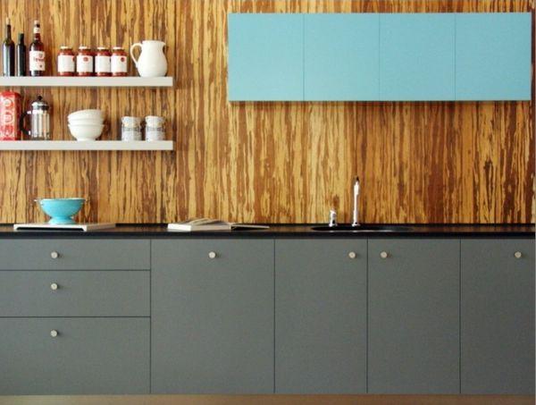 Küchenspiegel Holz ~ Tolle küche fliesenspiegel holz grün regale idee