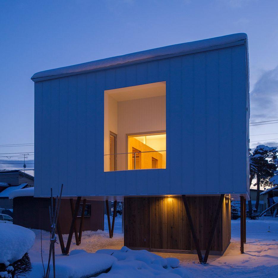 Top-heavy house by Archi LAB will minimize snow buildup — #Architecture via @dezeen