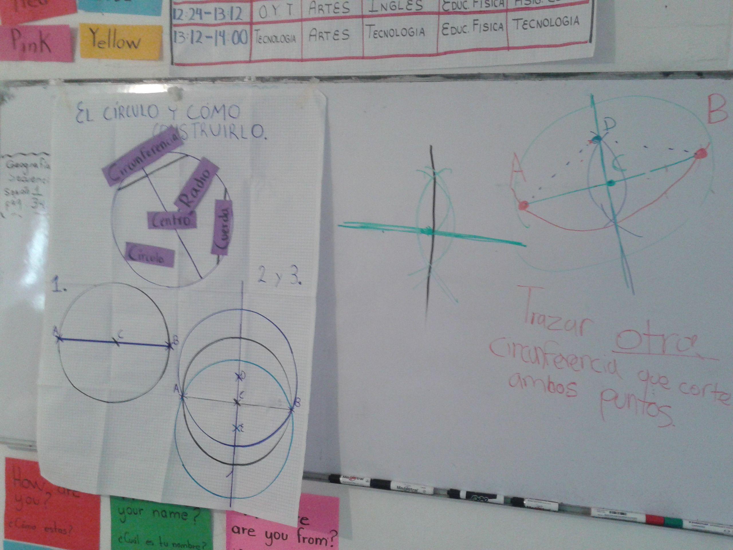 Matemáticas. Sesión 1. 13-03-2014. El círculo y cómo construirlo. Material didáctico.