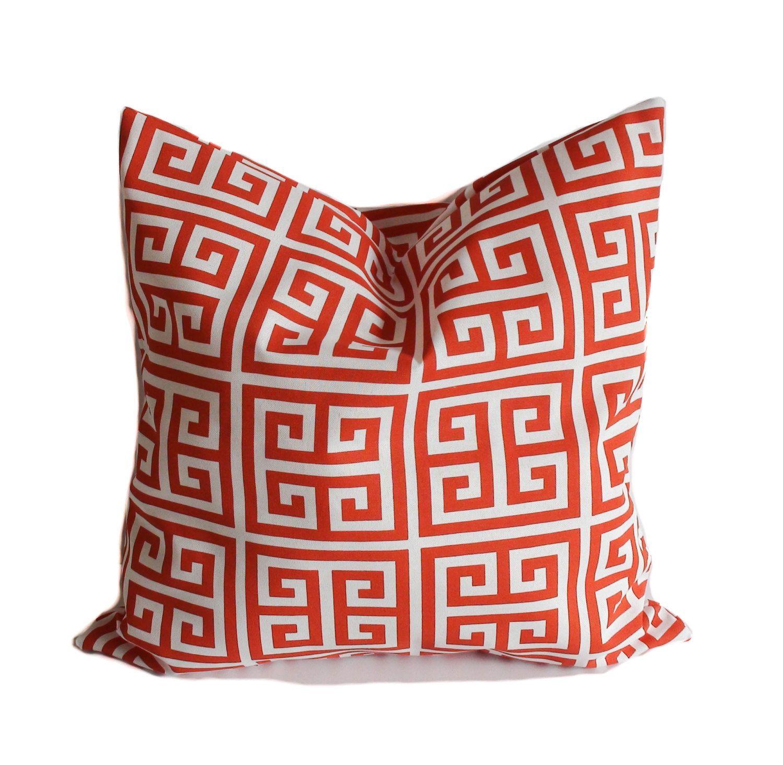 Outdoor Pillows, 18x18, Orange Outdoor Pillow, Outdoor Pillow Covers,  Outdoor Throw Pillow