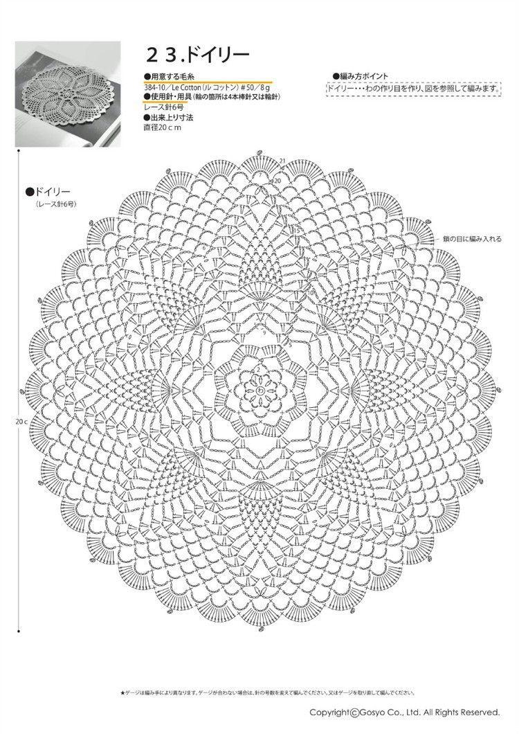 Pin de alejandra bejarano en ideas crochet | Pinterest | Centros de ...