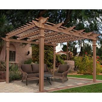 Breeze 20 Ft W X 12 Ft D Solid Wood Pergola Pergola Patio Outdoor Pergola Pergola Designs