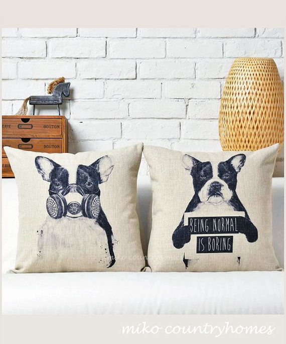 Boston Terrier Throw Pillow Cover Stuff You Want To Buy Best Decorative Dog Themed Pillows
