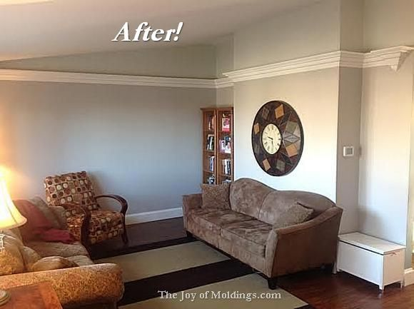 Before & After: Aaron\'s Livingroom Molding Makeover | Small ...