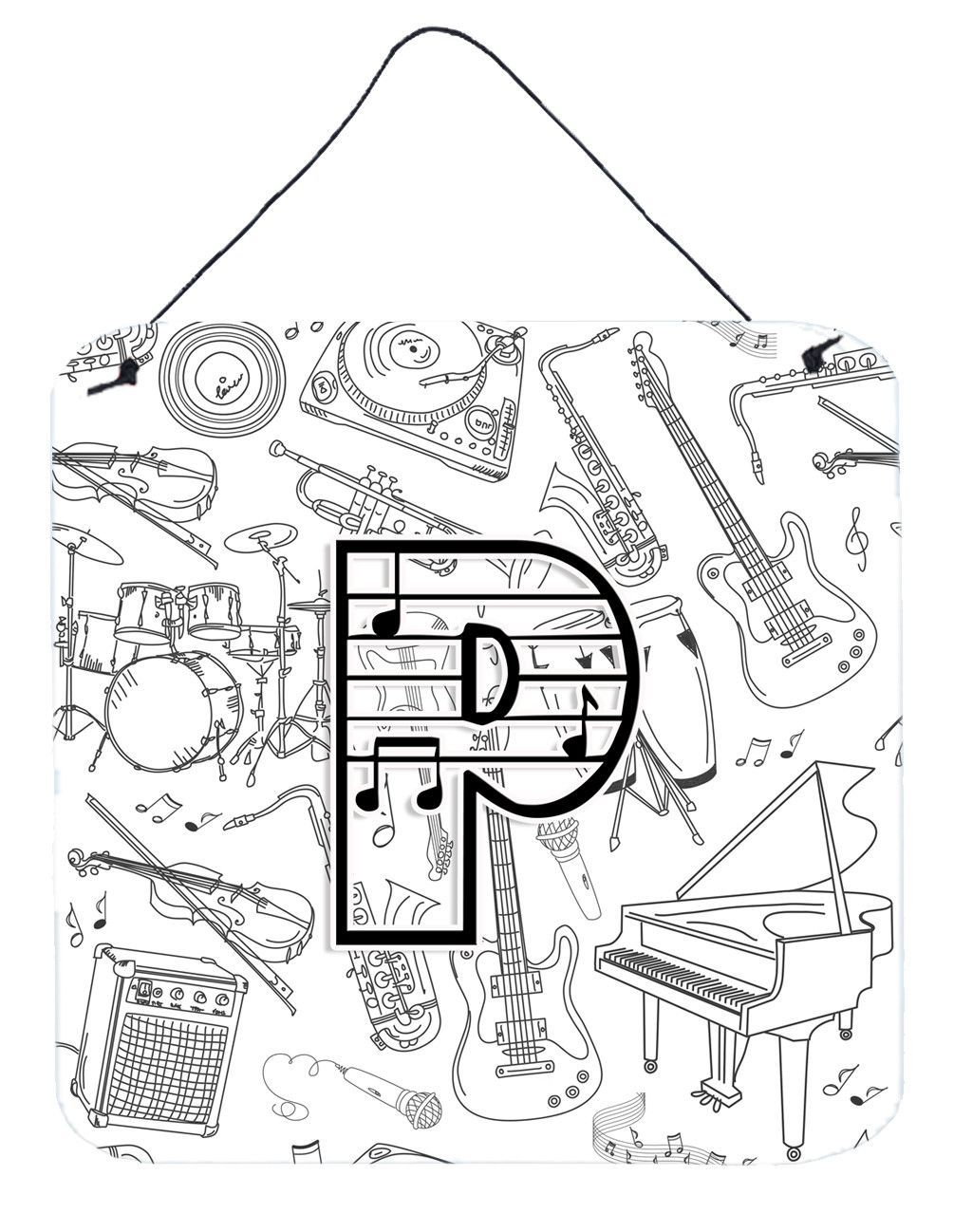 Letter p musical note letters wall or door hanging prints cj