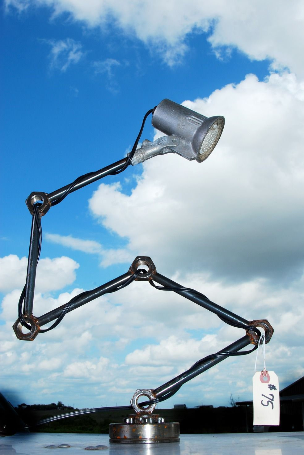 industrial lamps handmade from old car parts. | Office Spaces ...