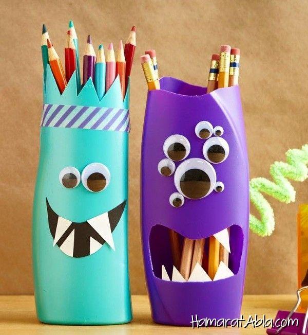 pot crayon avec bouteille de gel douche mat riel de r cup bricolage enfant pinterest gel. Black Bedroom Furniture Sets. Home Design Ideas